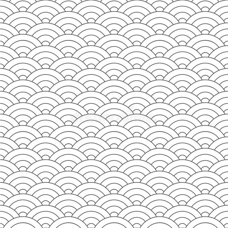 картина безшовная Волна Текстура масштабов рыб также вектор иллюстрации притяжки corel Scrapbook, упаковочная бумага подарка, тка бесплатная иллюстрация