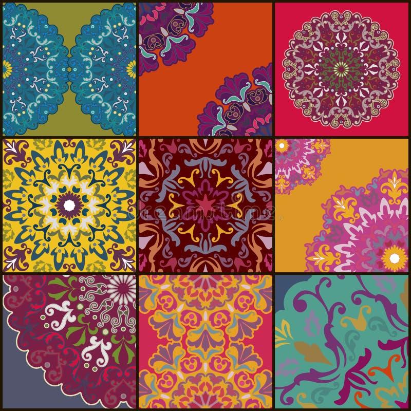 картина безшовная декоративный сбор винограда элементов иллюстрация вектора