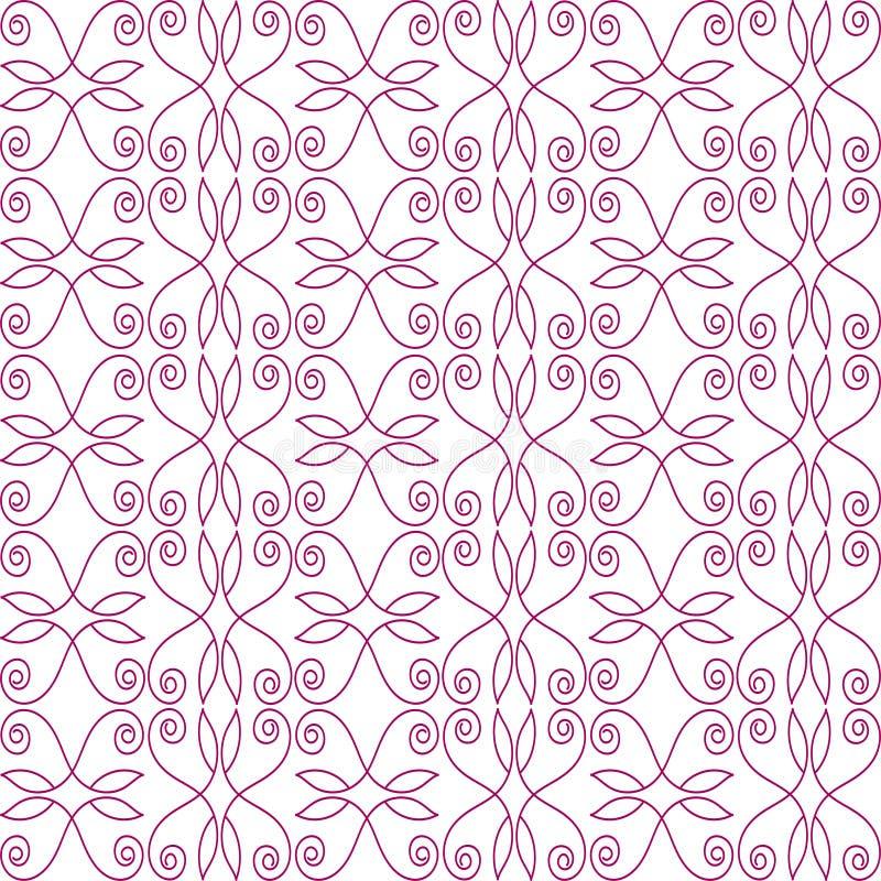 Картина безшовная линий флористических скручиваемостей иллюстрация вектора