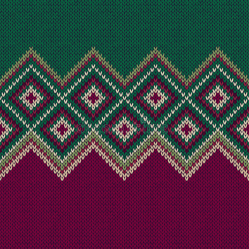 картина безшовная Текстура орнамента Knit шерстяная ультрамодная иллюстрация штока