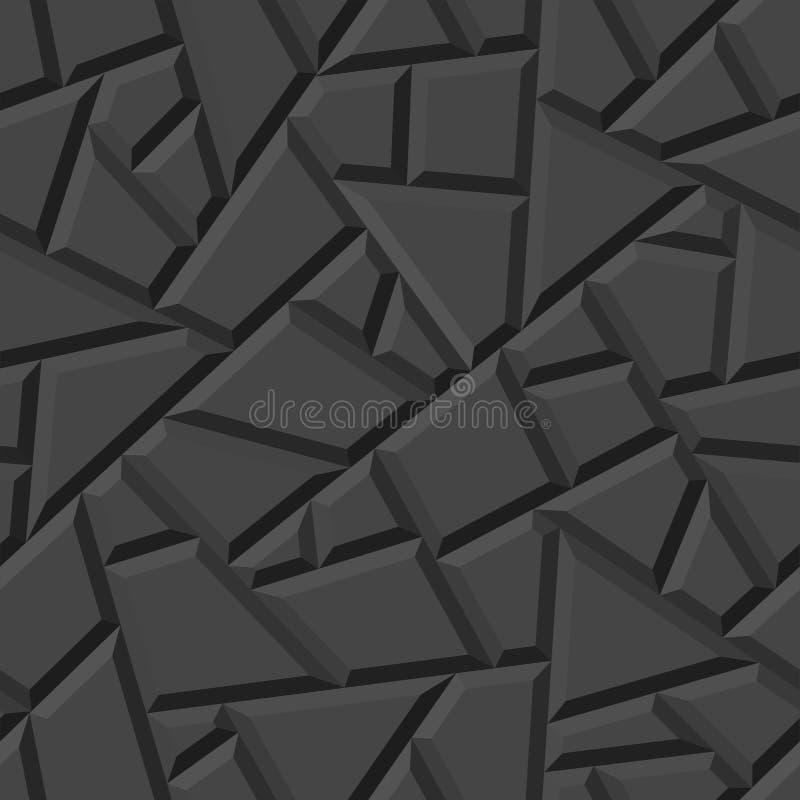 Картина безшовного вектора трехмерная стоковое фото rf
