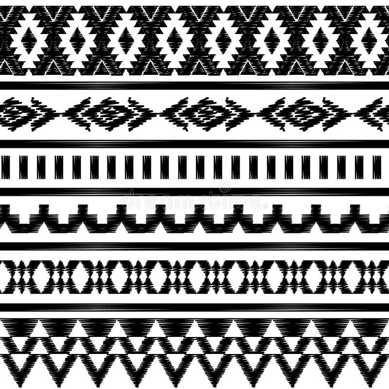 Картина безшовного вектора черно-белая иллюстрация штока