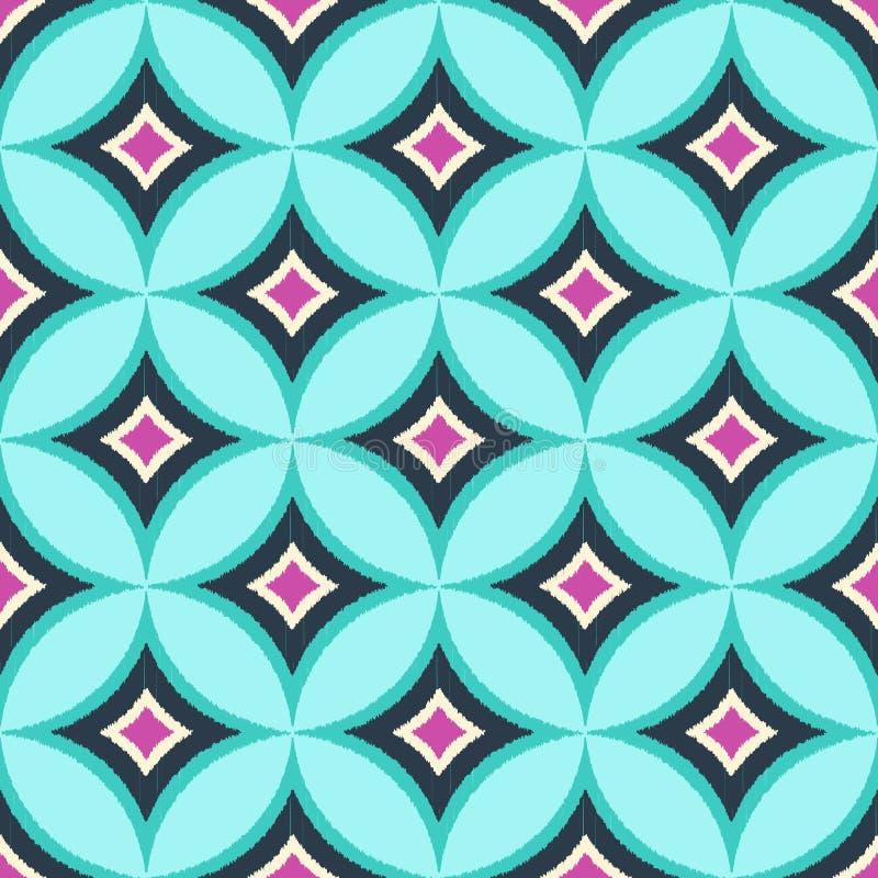 Картина безшовного круга диаманта красочная иллюстрация вектора