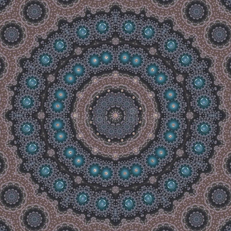 Картина безшовного круга мандалы круглого азиатская традиционная бесплатная иллюстрация