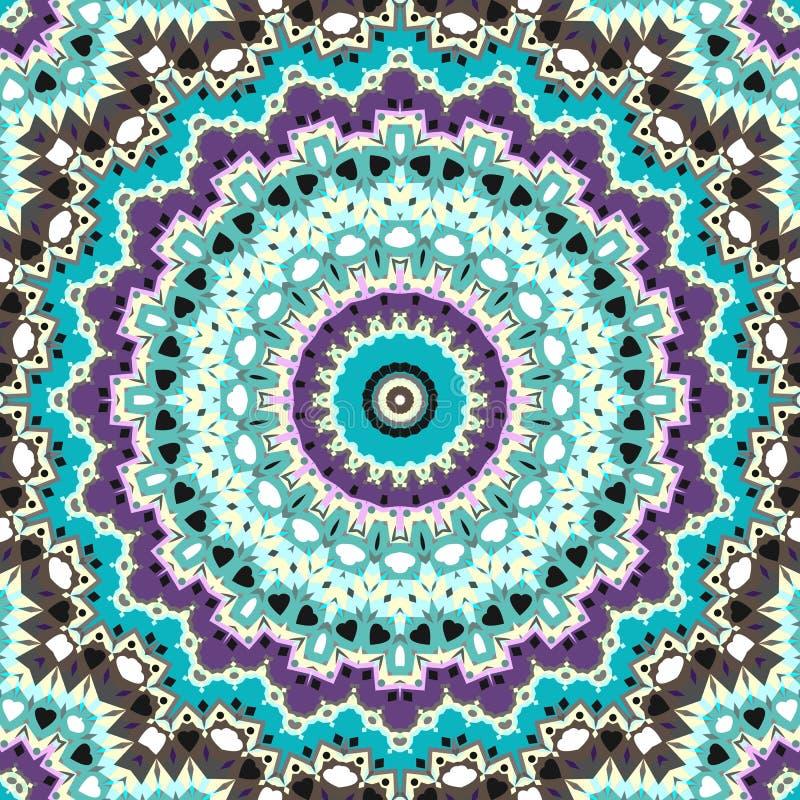 Картина безшовной абстрактной круглой мандалы кельтская бесплатная иллюстрация