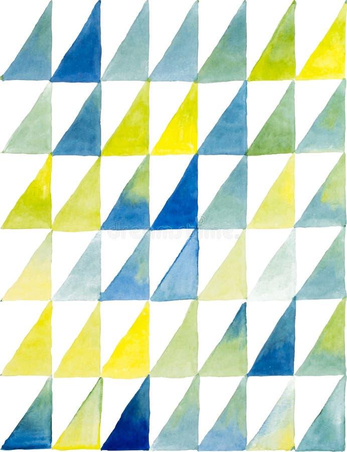 Картина безшовной акварели геометрическая вектор иллюстрация вектора