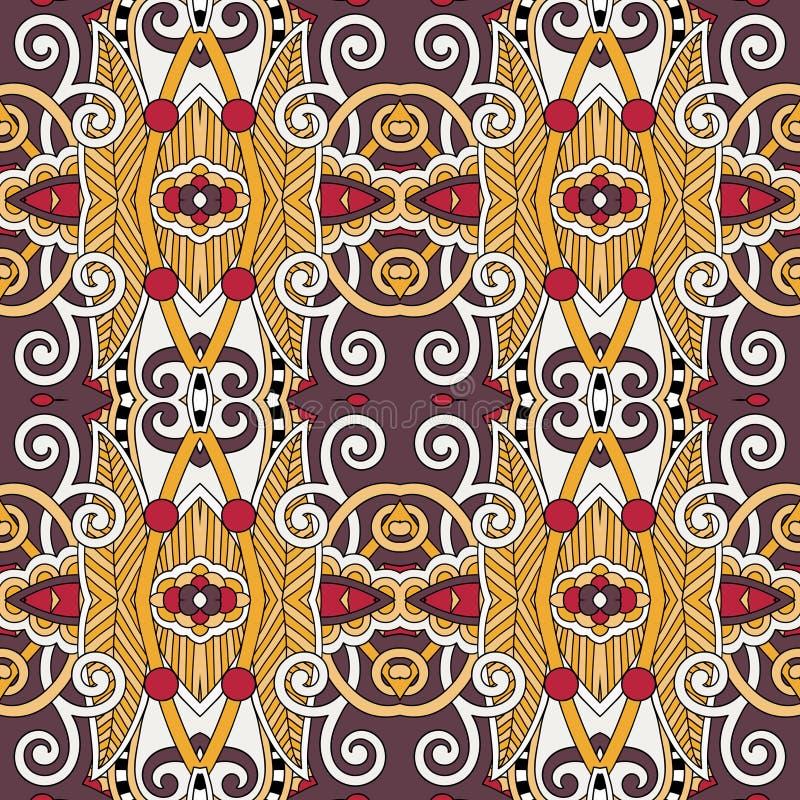 Картина безшовной геометрии винтажная, этнический стиль иллюстрация штока
