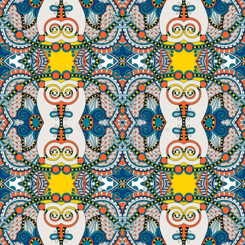 Картина безшовной геометрии винтажная, этнический стиль иллюстрация вектора