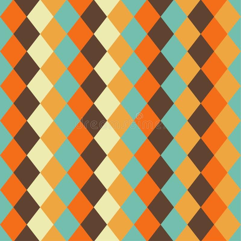 Картина безшовной картины винтажная геометрическая, форма диаманта иллюстрация штока