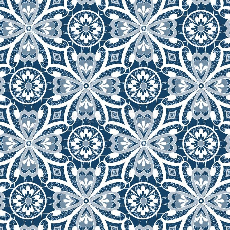Download Картина белого шнурка безшовная с цветками на сини Иллюстрация штока - иллюстрации насчитывающей творческо, brickmason: 40582248