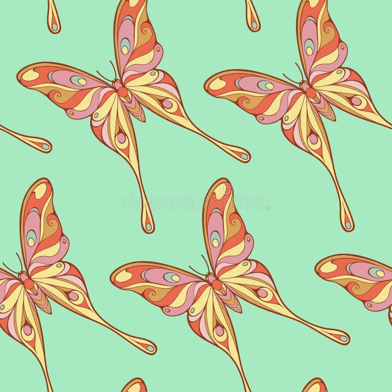 Картина больших красочных бабочек иллюстрация вектора