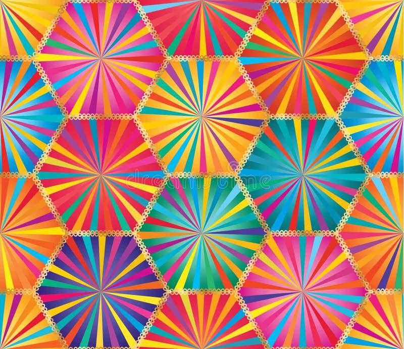 Картина большого луча шестиугольника красочная безшовная иллюстрация вектора