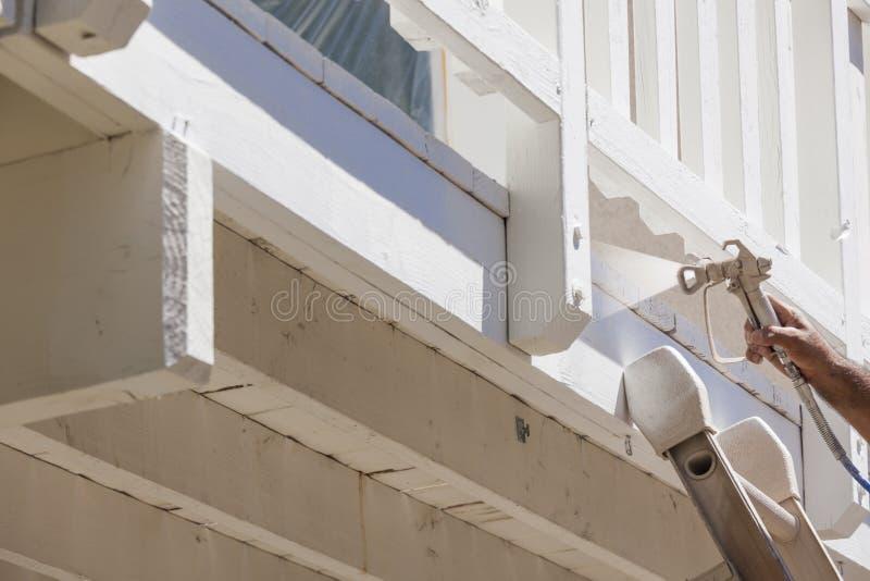 Картина брызга маляра палуба дома стоковое изображение rf