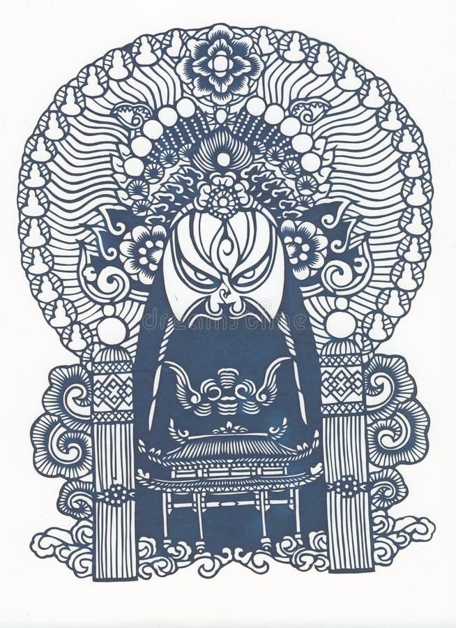 картина бумаги отрезока китайца традиционная иллюстрация штока