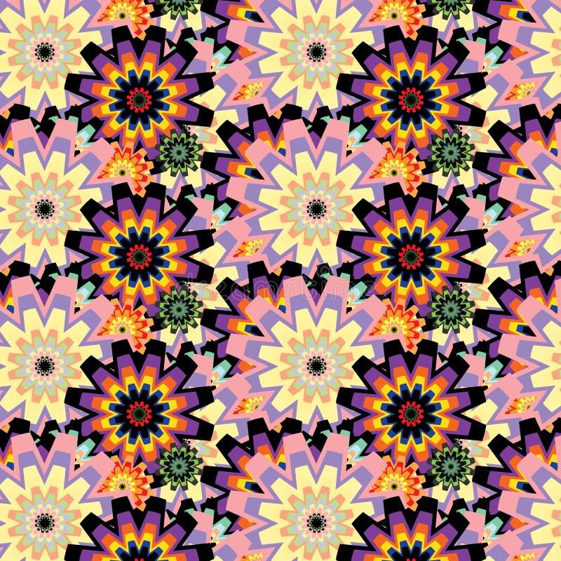 Картина вектора абстрактная безшовная psycedelic бесплатная иллюстрация