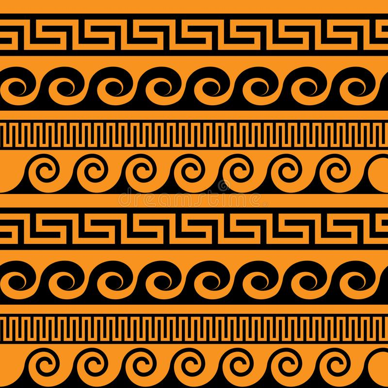Картина вектора античная безшовная бесплатная иллюстрация