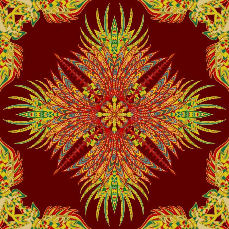 Картина вектора ацтекская геометрическая безшовная Предпосылка с латино-американским орнаментом иллюстрация вектора