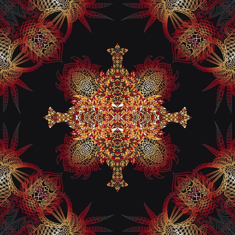 Картина вектора ацтекская геометрическая безшовная Предпосылка с латино-американским орнаментом бесплатная иллюстрация