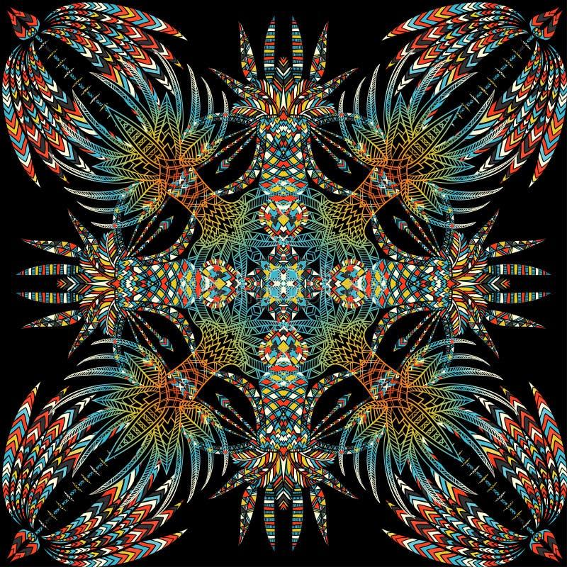 Картина вектора ацтекская геометрическая безшовная иллюстрация вектора