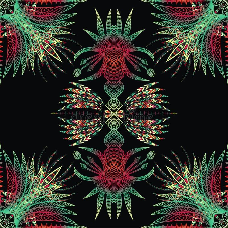 Картина вектора ацтекская геометрическая безшовная бесплатная иллюстрация