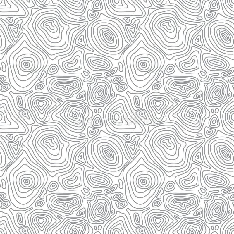 Картина вектора безшовная абстрактная простая с conce иллюстрация вектора