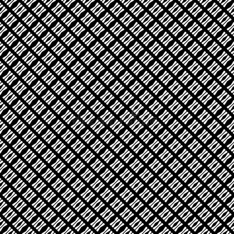 Картина вектора безшовная абстрактная черно-белая абстрактные обои предпосылки иллюстрация вектора