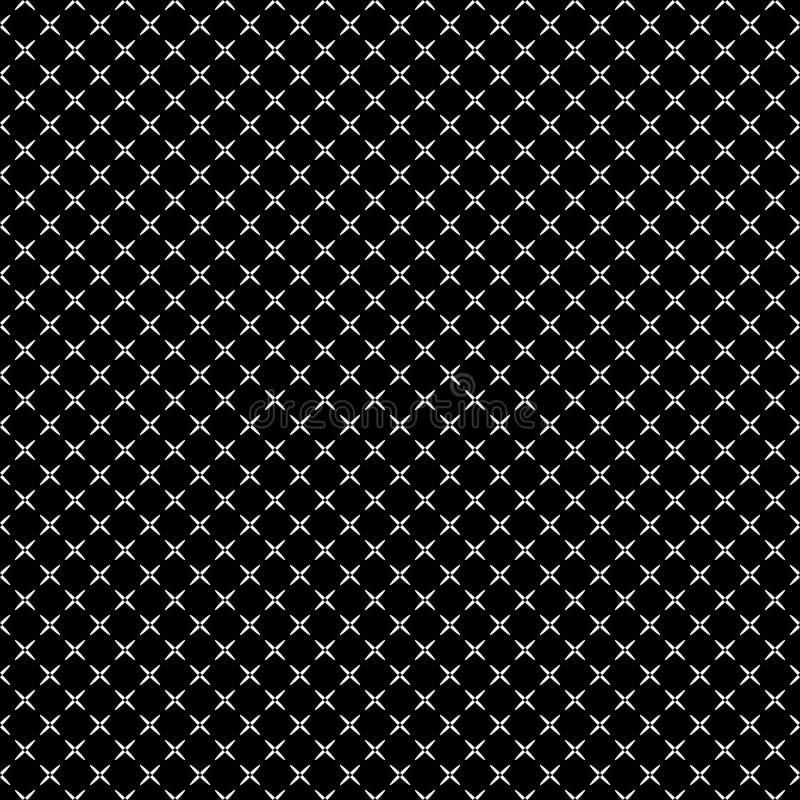 Картина вектора безшовная абстрактная черно-белая абстрактные обои предпосылки иллюстрация штока