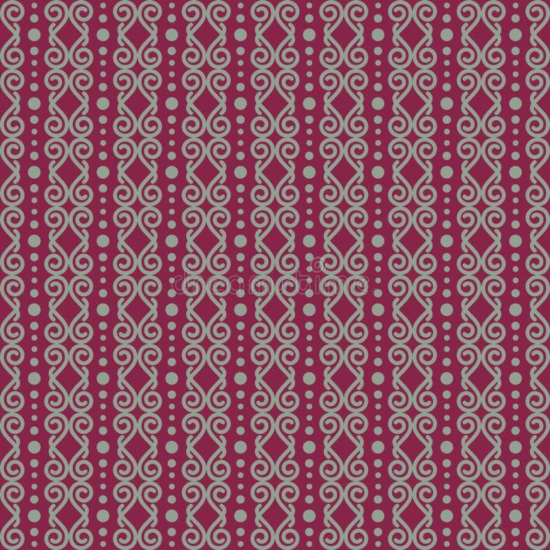 Картина вектора безшовная абстрактного орнаментального искусства, связанная с этническим, племенным и культурой иллюстрация вектора