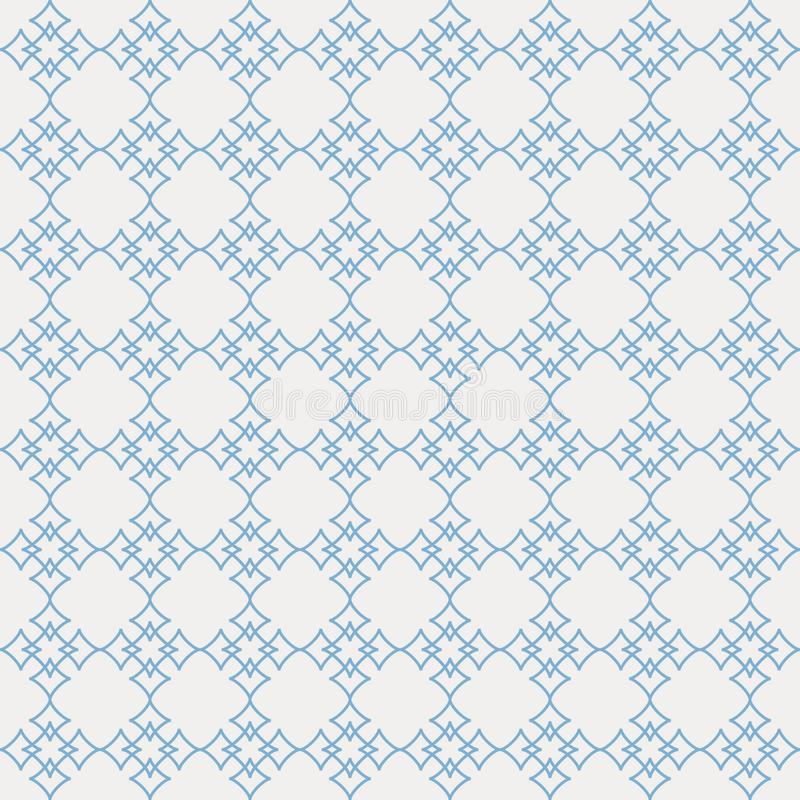 Картина вектора безшовная абстрактных звезд в минималистской линии искусстве иллюстрация штока