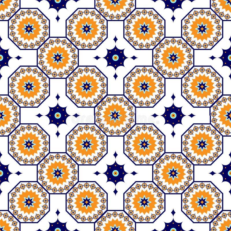 Картина вектора безшовная арабская Арабеска, Ramazan, приветствие, счастливый месяц Рамазан Картина геометрии ислама безшовная иллюстрация вектора