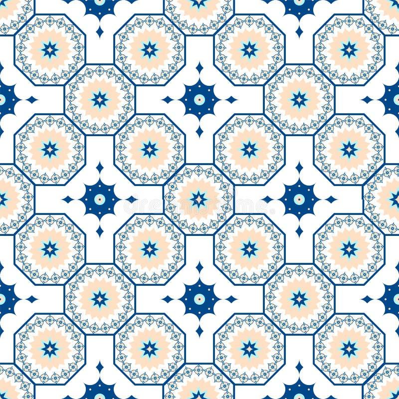 Картина вектора безшовная арабская Арабеска, Ramazan, приветствие, счастливый месяц Рамазан Картина геометрии ислама безшовная иллюстрация штока