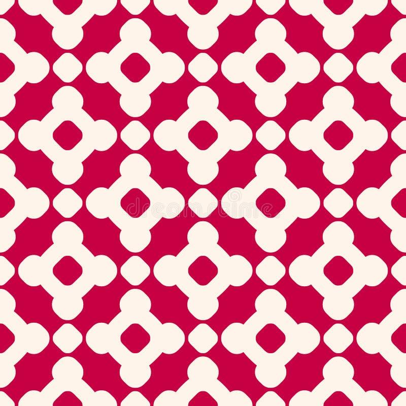 Картина вектора безшовная в китайском стиле Красный и бежевый геометрический орнамент бесплатная иллюстрация