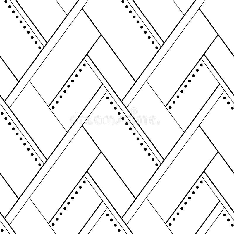 Картина вектора безшовная геометрическая фрактали цветка конструкции карточки предпосылки белизна плаката ogange черной хорошая бесплатная иллюстрация