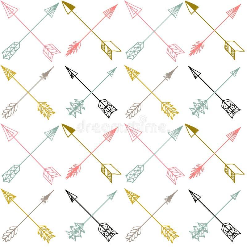 Картина вектора безшовная красочная этническая с стрелками бесплатная иллюстрация