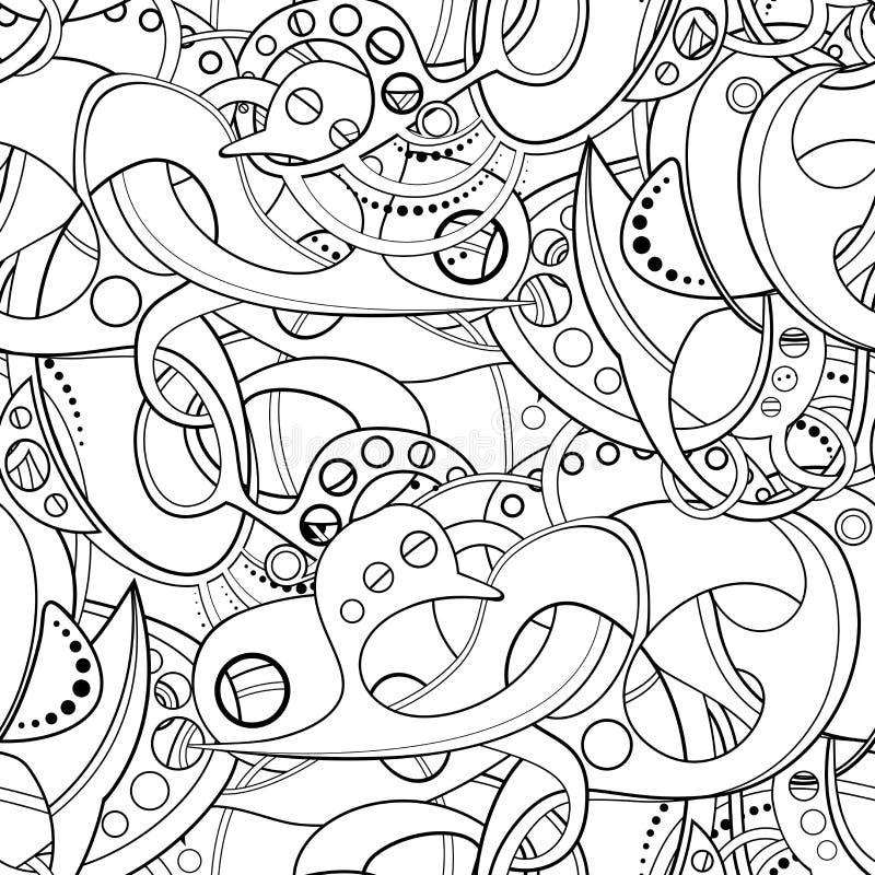 Картина вектора безшовная покрашенная абстрактная иллюстрация вектора
