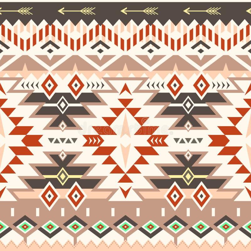 Картина вектора безшовная племенная в краснокоричневых цветах бесплатная иллюстрация