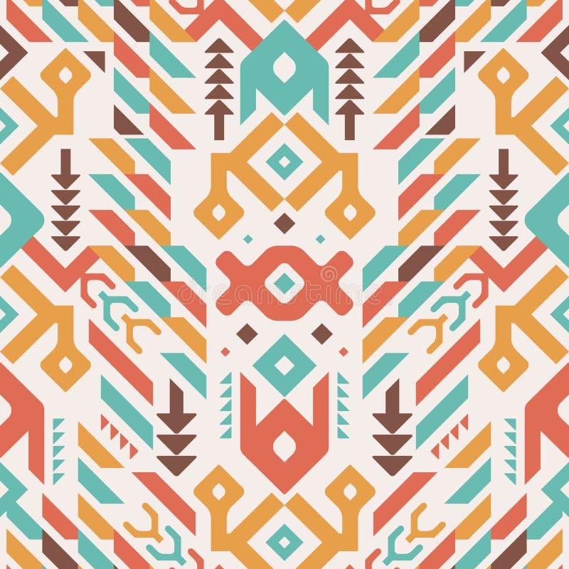 Картина вектора безшовная племенная Этнический орнамент печати бесплатная иллюстрация