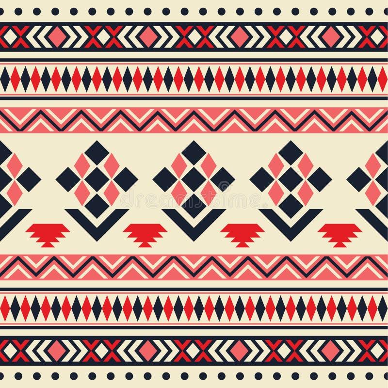 Картина вектора безшовная племенная иллюстрация штока