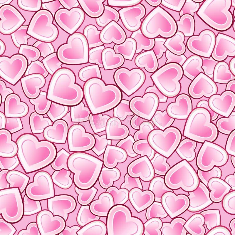 Картина вектора безшовная плотно упакованных сердец бесплатная иллюстрация