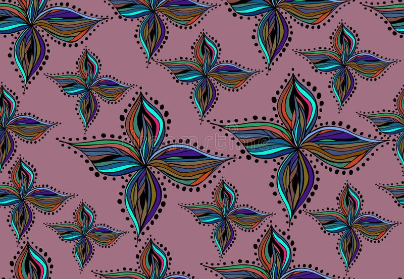 Картина вектора безшовная с абстрактными диаграммами на розовой предпосылке бесплатная иллюстрация