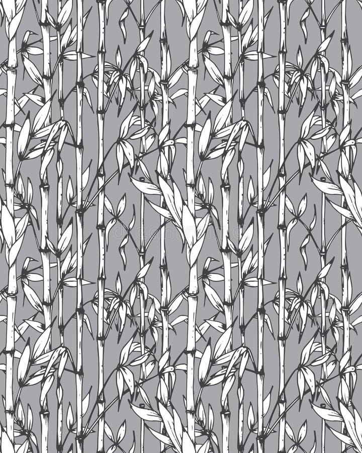 Картина вектора безшовная с бамбуковыми ветвями бесплатная иллюстрация