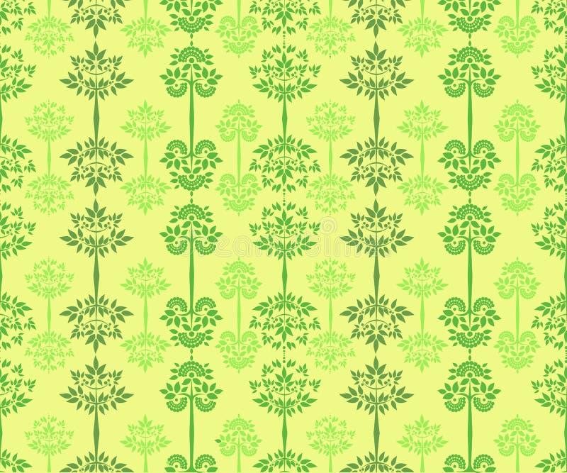 Download Картина вектора безшовная с деревьями Иллюстрация вектора - иллюстрации насчитывающей элегантность, ornate: 41660559