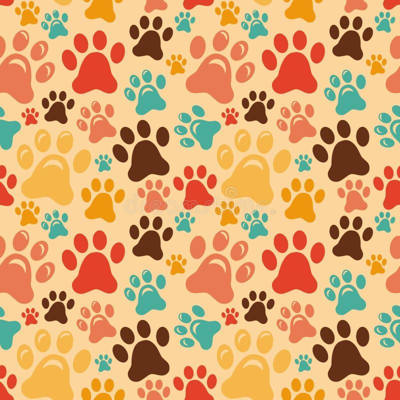 Картина вектора безшовная с животными лапками бесплатная иллюстрация