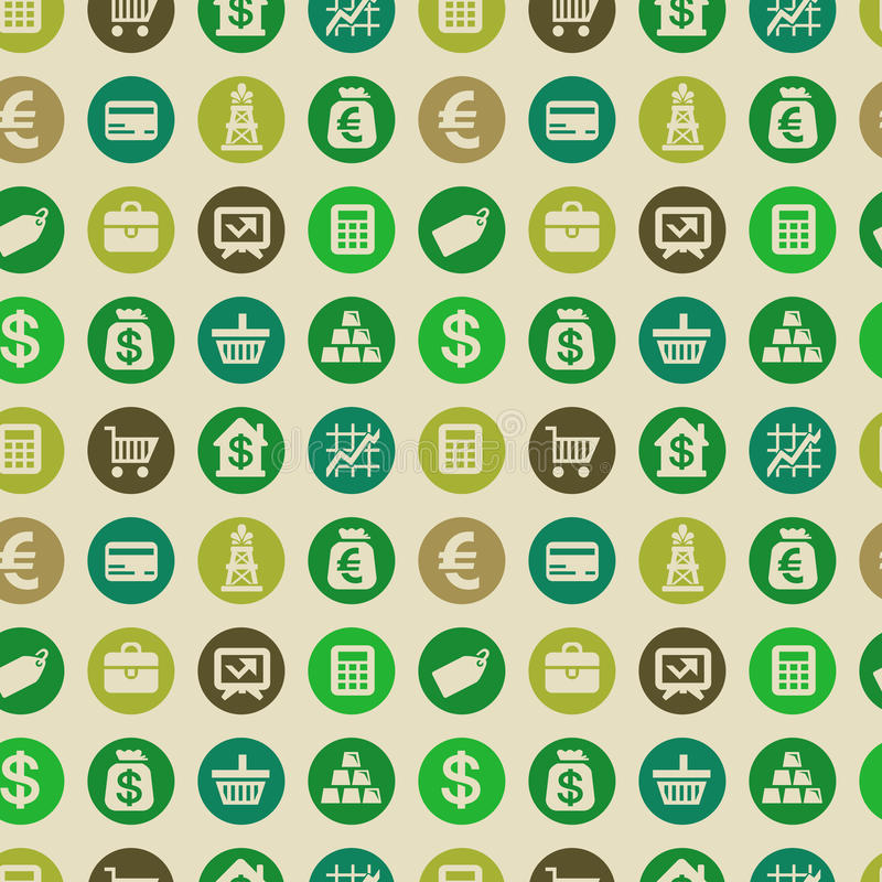 Картина вектора безшовная с значками финансов бесплатная иллюстрация