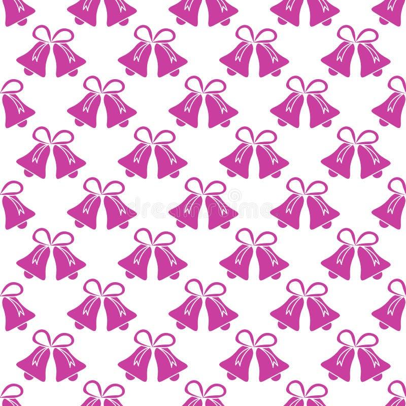 Картина вектора безшовная с колоколами Предпосылка 2019 рождества и Нового Года Дизайн для упаковывая бумаги, ткани и другой печа бесплатная иллюстрация