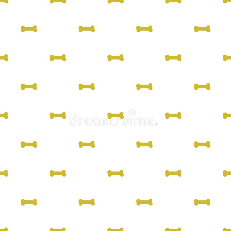 Картина вектора безшовная с косточками для собак бесплатная иллюстрация
