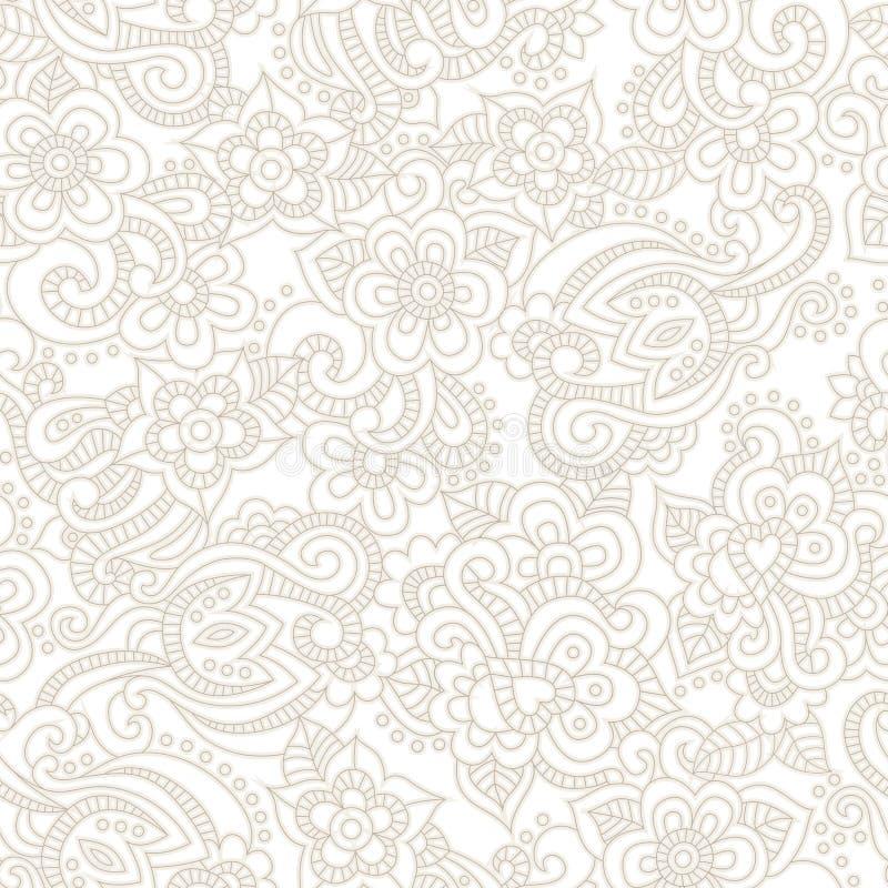 Картина вектора безшовная с романтичной флористической предпосылкой иллюстрация вектора