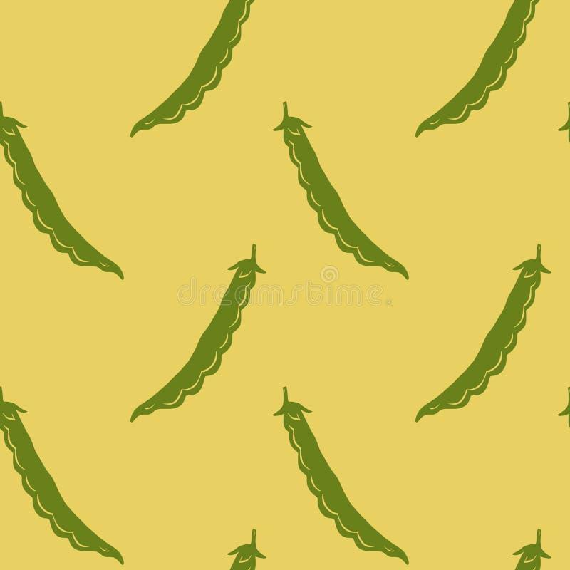 Картина вектора безшовная с стручками фасоли бесплатная иллюстрация