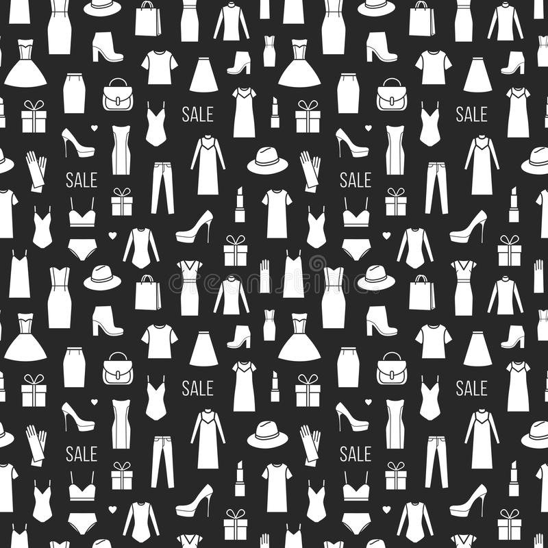 Картина вектора безшовная ladieswear моды иллюстрация штока
