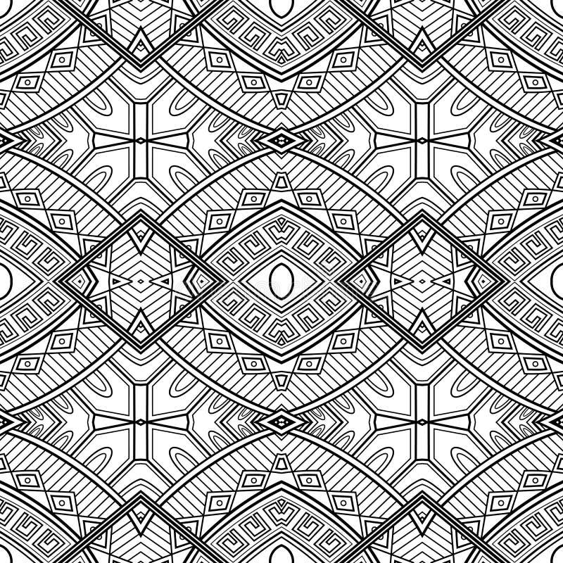 Картина вектора безшовная Monochrome абстрактная бесплатная иллюстрация